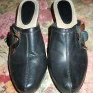 Bass Womens Marietta Black Clog Shoes Size 9 1/2