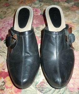 Bass Womens Marietta Black Clog Shoes Size 9 1/2