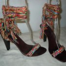 Hugo Boss multi-color strappy sandals heels size 38/7.5