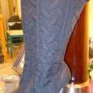 Womens Juniors Wild Divas black quilted boots size 7