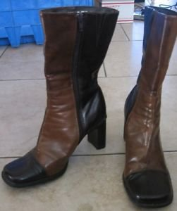 Womens Brown multi-color Predictions ankle boots size 6 1/2