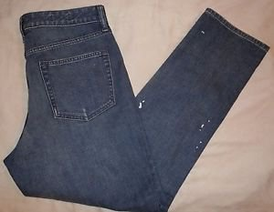 Men Gap Distressed Blue Jeans Size 32r Real Straight