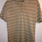 Mens Men America khaki Brown/green Polo Shirt Size Large