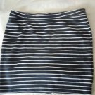 Womens Verve ami navy/white striped skirt size 16P