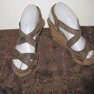 Womens Montego Bay Club brown cork sandals size 6