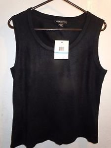 Mens Designers Originals black sleeveless acrylic sweater size XL NWT