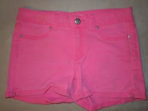Girls Joes Jeans Hot Pink Shorty Shorts Size 14