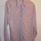 Mens Vintage Levi plaid button up shirt size XL
