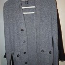 Juniors Womens H&M grey button front cardigan sweater size XS