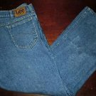 Mens Lee Storm Rider Classic fit Straight leg Blue Jeans size 42x32