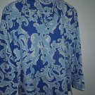 """Womens Foxcroft fitted """"LAKE"""" blue button wrinkle free shirt size 16 NEW"""
