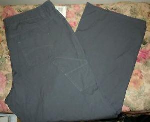 Womens Plus Route 66 Pants Capris Grey NWT Size 22