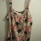 Womens Mixit Floral Pink Tank Blouse NWT Size XL