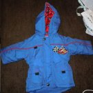 Outbrook Kids boys infant baby blue/red hooded jacket coat size 12mo