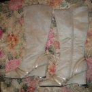 Womens Fashion Beige Knee High Predictions side zipper boots size 9