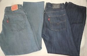 Lot 2 pair boys Levis Size 16 28x28 550 Relaxed Fit 515 Skinny