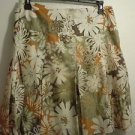 Womens Mossimo Brown Floral Skirt Size 10