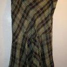 Womens Alfani skirt green/black silk/wool size 16