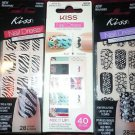 KISS NAIL DRESS  stick on appliques #60496 #56704 #56699 28-40 strips tips toes