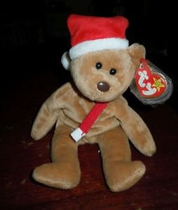 TY Beanie Baby 1997 Teddy Christmas Bear 4200 Rare Retired 12-25-1996