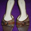 Womens Anne Klein slip on brown pumps size 8.5