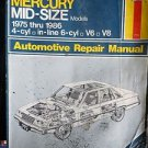 Haynes Ford Taurus & Mercury Sable Automotive Repair Manual 1986 thru 1992 #773
