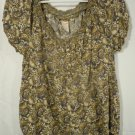 Womens Faded Glory Brown Paisley Print 1/2 Sleeve Size Small (4-6)