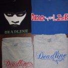 Lot of 4 Mens Deadline T-shirts Size XXL Blue Grey Black