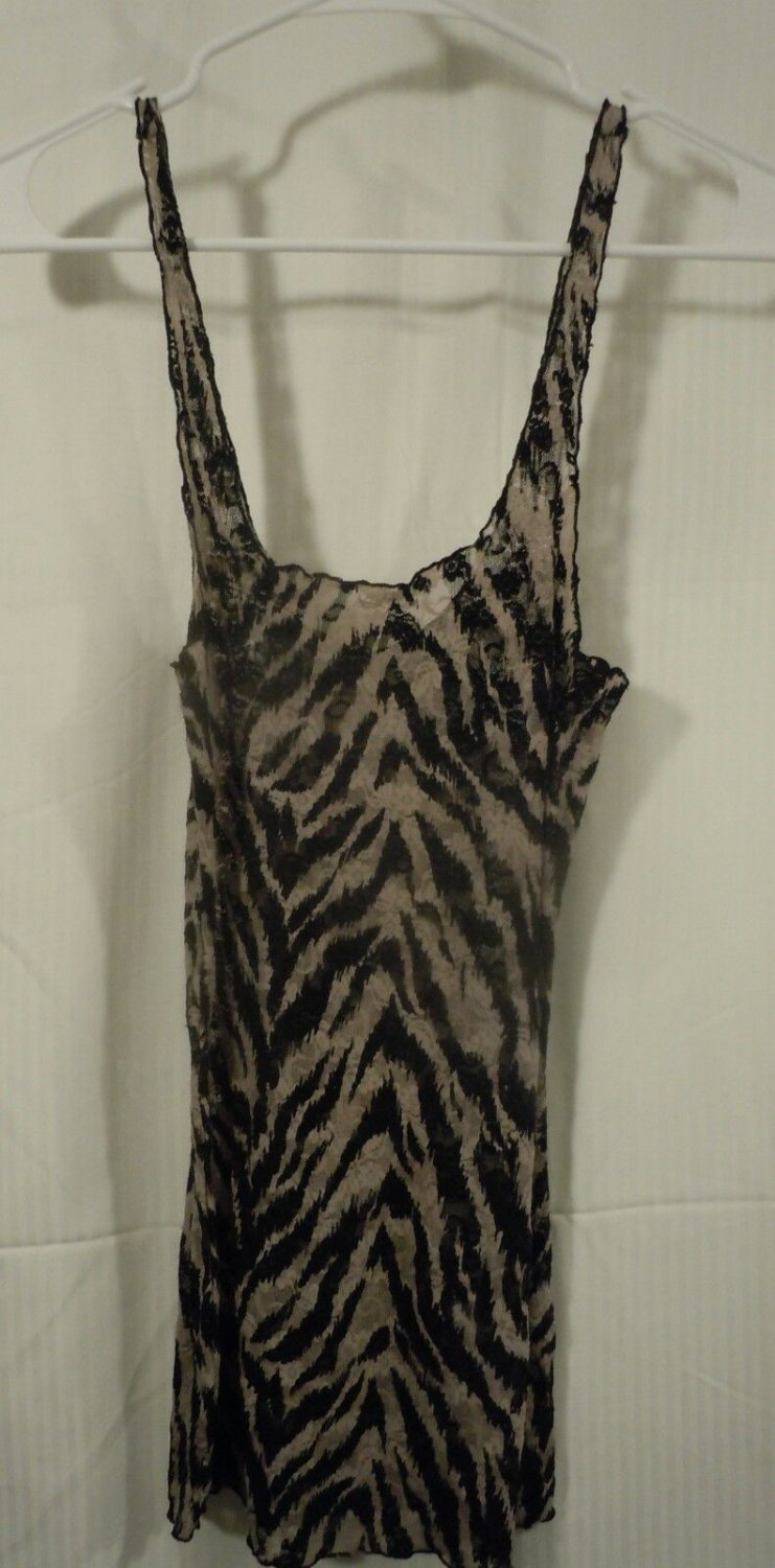 Intimately Free People Black/Brown Lace Tank Sleeveless Top Size Small