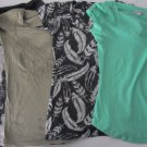 Lot of 4 Womens T-shirts Size XS/S Express Ann Taylor Loft Grey Green