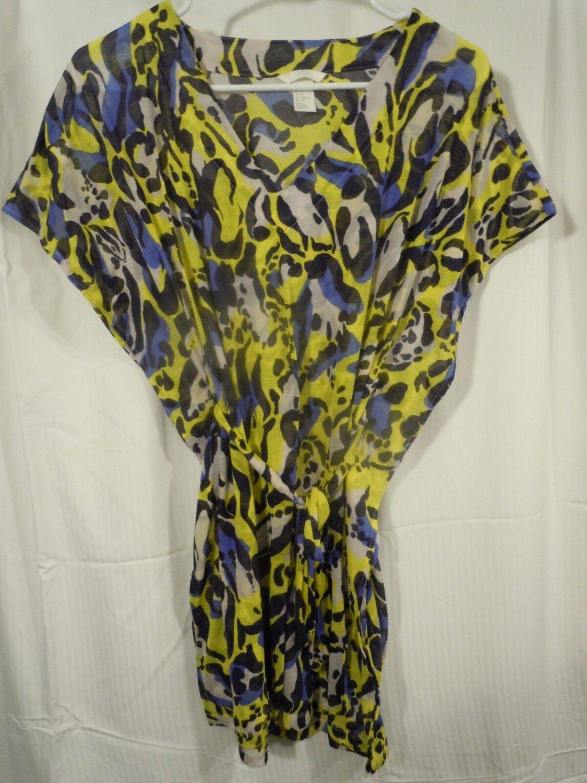 Juniors H&M Black/Yellow/Blue/White Mini Dress Size XS