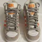 Adidas Super Skate Mid Tops Grey/White/Orange Leather Athletic Shoes Size 7