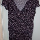 Womens Studio 1940 floral 2 pc top and skirt outfit set size L