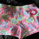 Girls SO White Multi-color heart knit shorts size 12 1/2 NWT