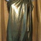 Womens robbi & nikki Gold Metallic One Shoulder Top Blouse Size XS