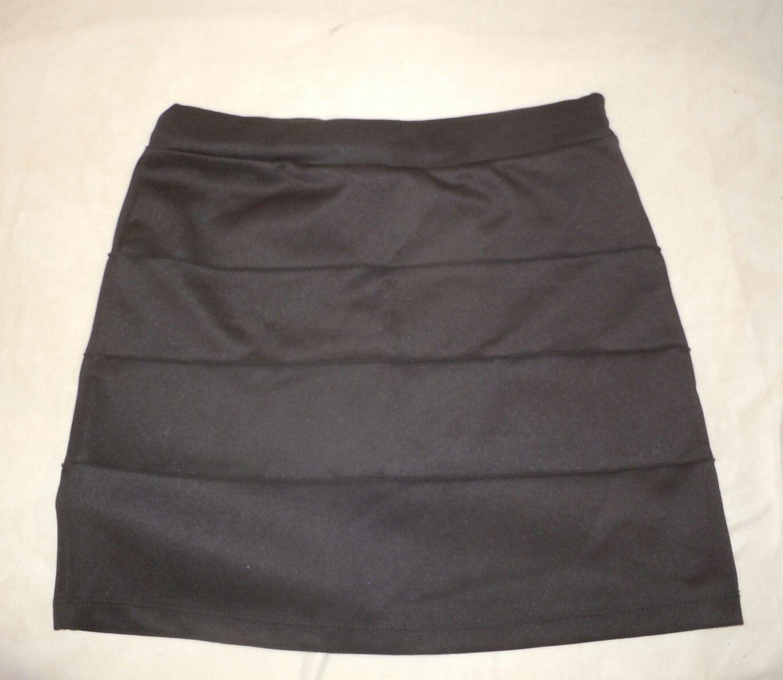 Womens Black toska Mini Skirt Size L