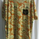 Mens Diamond Supply Co Camouflage/Yellow/Orange Grizzly Tape T-shirt Size XL
