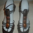 Womens NYJ New York Journal brown sandals size 8
