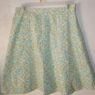 Womens i.e relaxed Petites Blue/green/white floral skirt size 10P
