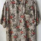 Mens Solitude Washable Silk Button Front Short Sleeve Hawaiian Shirt Size L