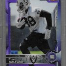 2015 Topps Football Clive Walford  Raiders Chrome Purple  Refractors #156