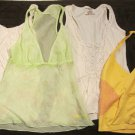 Juniors Summer Tops Shirts Size XS X-Small Yellow Green White CUTE!