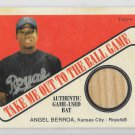 2004 Topps Cracker Jack Baseball ANGEL BERROA Game Used Bat Relic TB-AB Royals