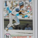 1979 Topps Lou Whitaker #123 Tigers NM+