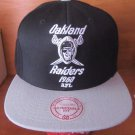 Oakland Raiders Mitchell & Ness Adjustable Fit NFL Vintage Cap Hat Black/Grey