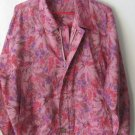 Womens Spasso pink/purple/brown zipper front lightweight jacket size L