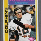 1978 Topps Bob Griese #120 all pro