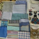 Lot Assorted Fabric Scrap Remnants Quilting Sewing Arts Crafts Projects 4+ lbs