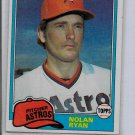 1981  NOLAN RYAN - Topps Baseball Card # 240 - Houston Astros - Vintage