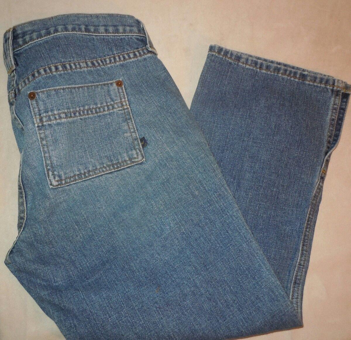 Abercrombie & Fitch Capri lace up medium wash jeans size 4